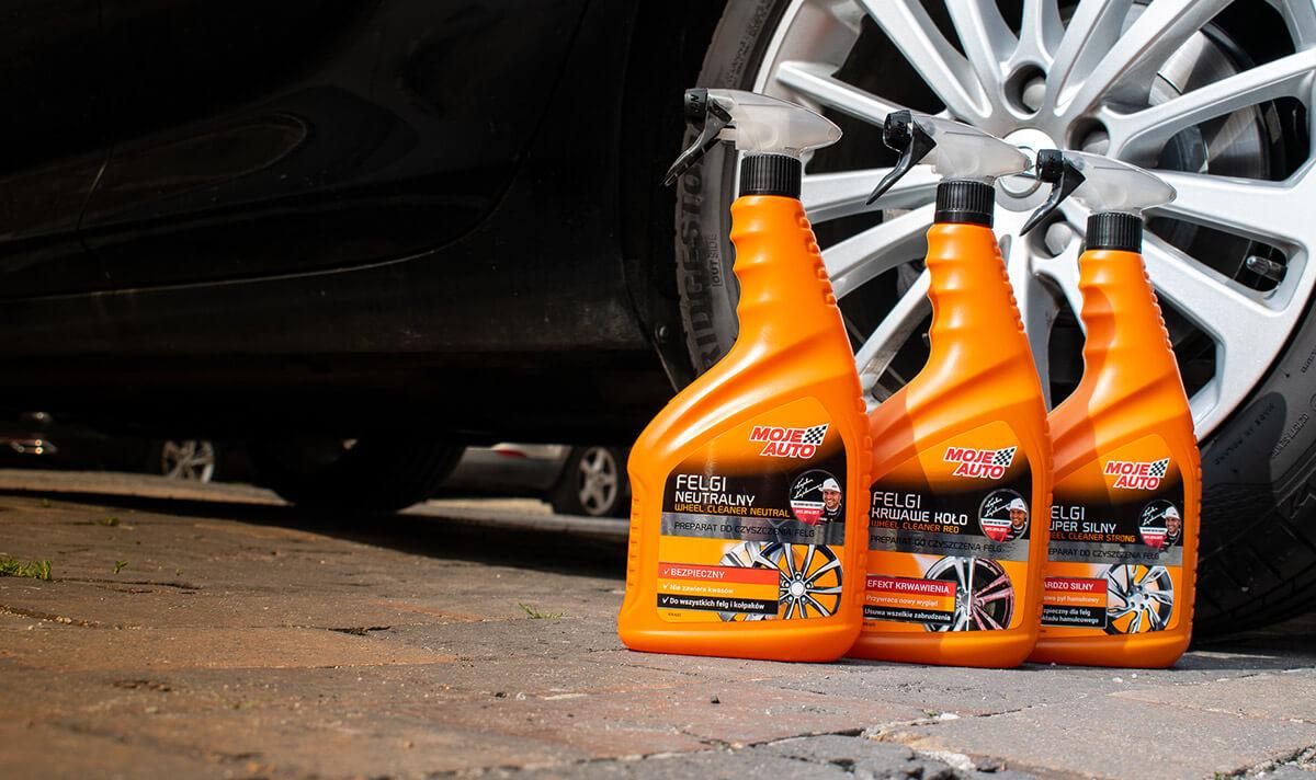 Preparaty Moje Auto do czyszczenia felg w samochodzie