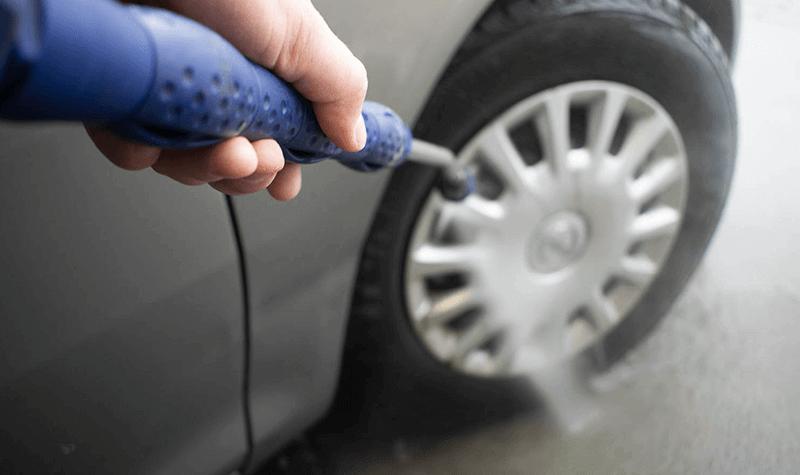 Mycie kół pojazdu