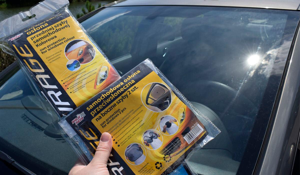 Osłony przeciwsłoneczne na szyby samochodowe