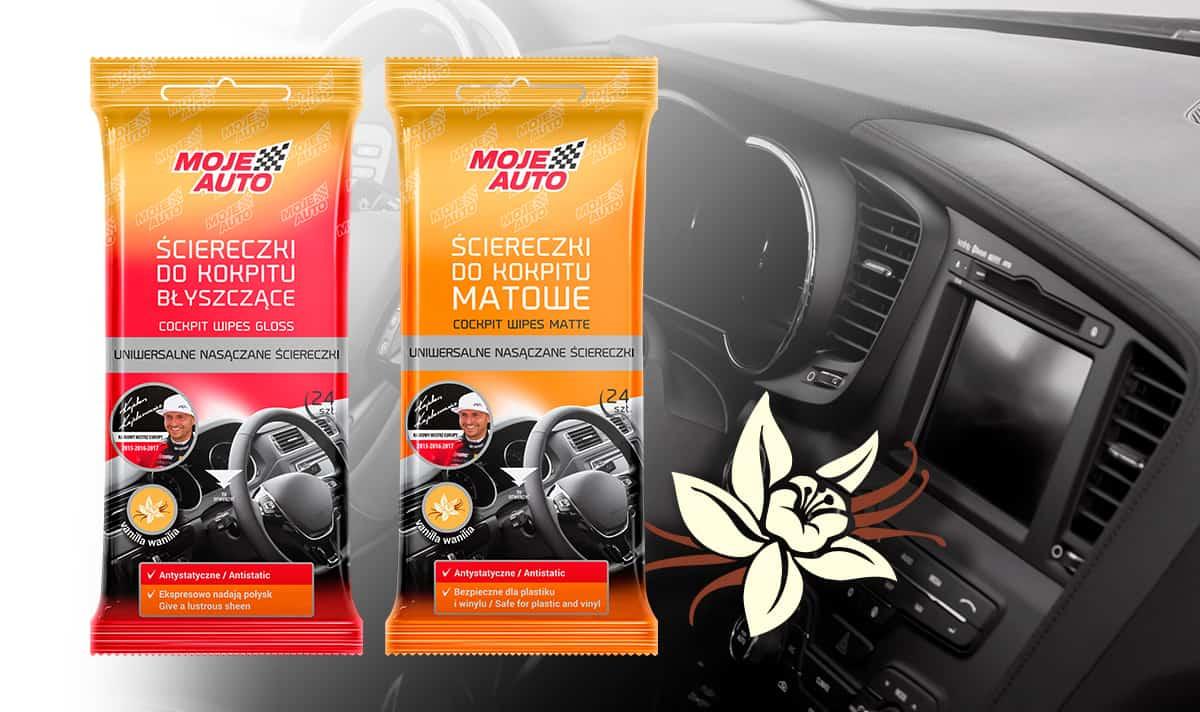 Popularne ściereczki do kokpitu Moje Auto w nowej wersji zapachowej