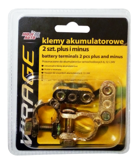 Klemy akumulatorowe Virage 2 szt. plus i minus - 93-017