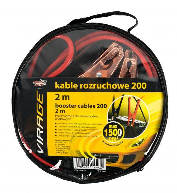 Kable rozruchowe Virage 200 2 m 94-035
