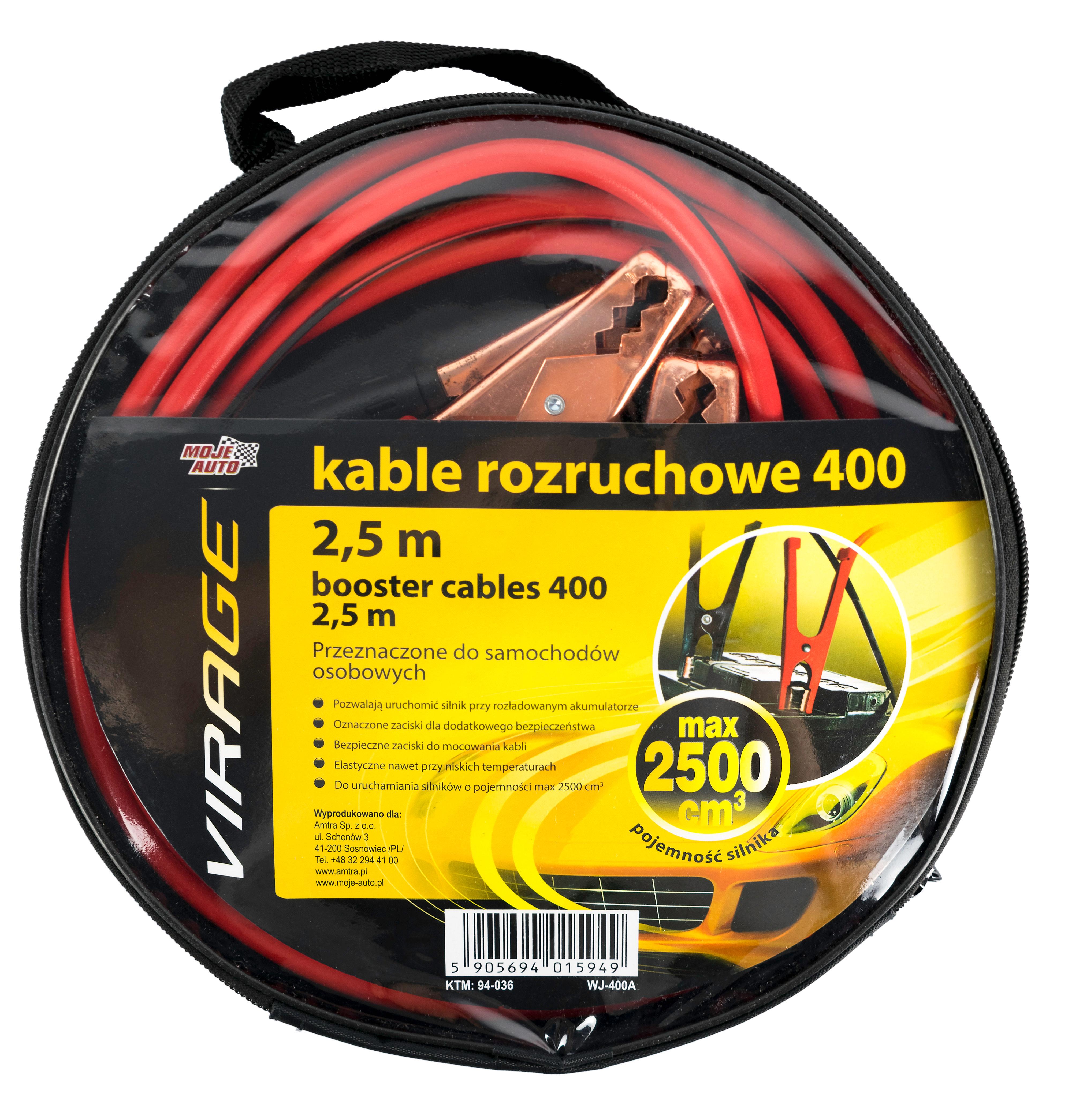Kable rozruchowe Virage 400 2,5 m - 94-036