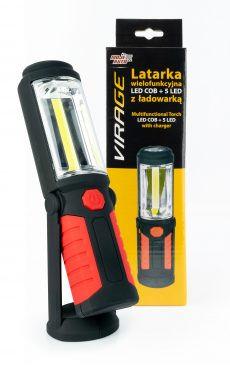 Latarka wielofunkcyjna LED COB + 5 LED Virage - 96-021