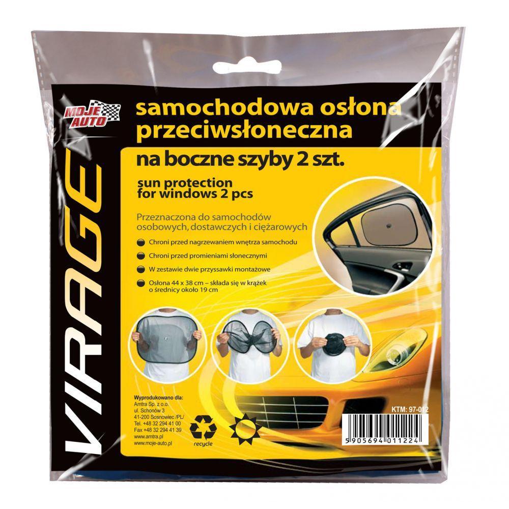 97-012 Moje Auto Virage Samochodowa osłona przeciwsłoneczna do szyb bocznych 2 szt.